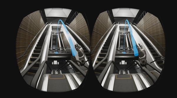 Escalator landing - Position pointer