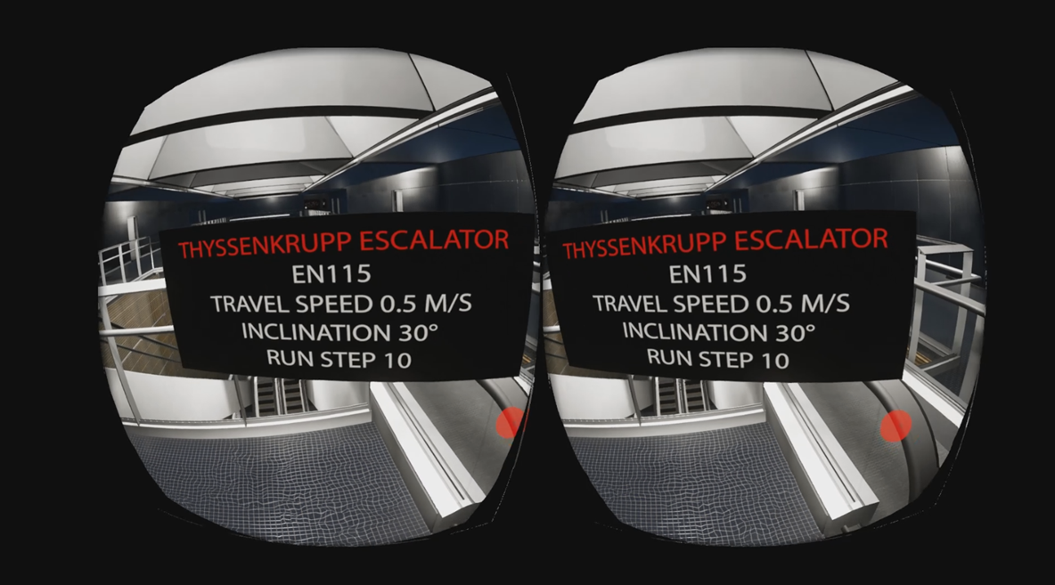 Concourse Level - BIM information opf the escalator