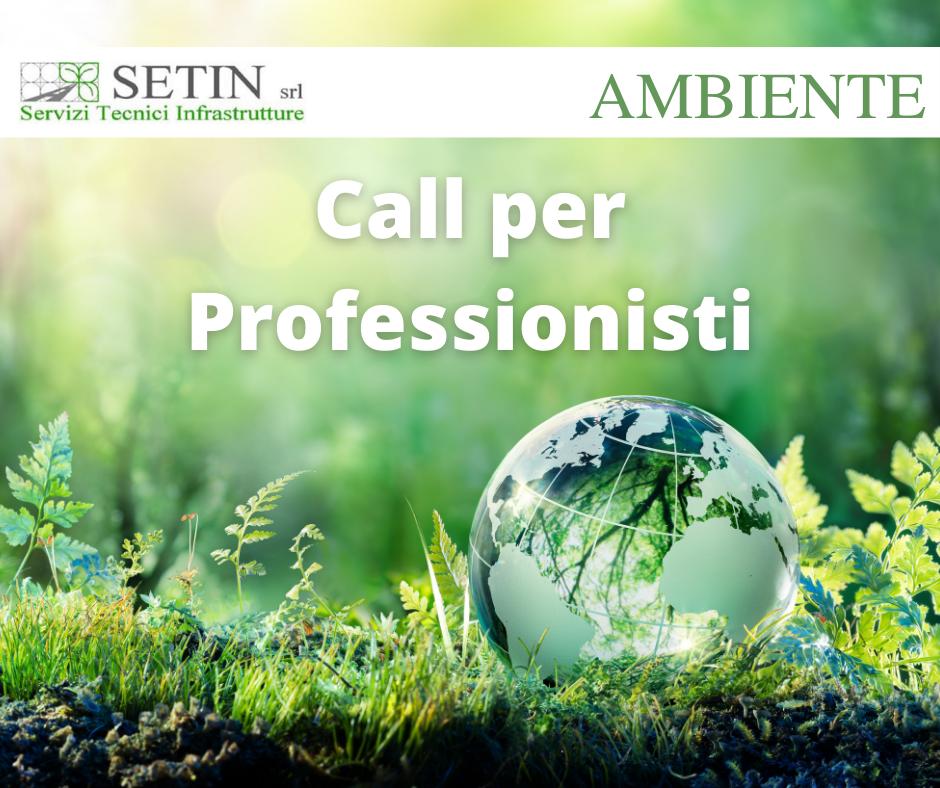 Call per Elenco Professionisti SETIN – Area Ambiente